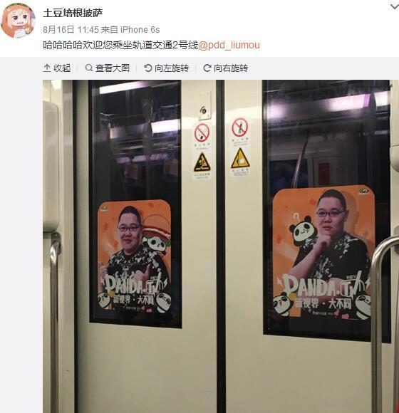 这不是幻觉!骚猪PDD海报承包地铁每节车厢