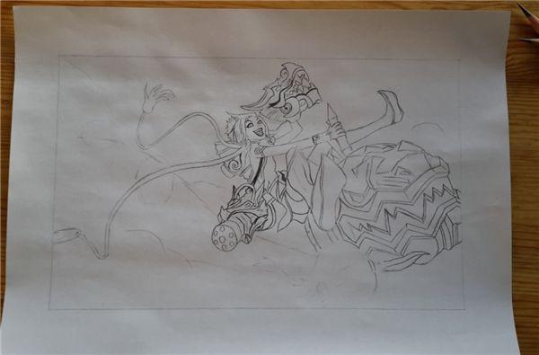羊年限定金克斯手绘全过程,碉堡!